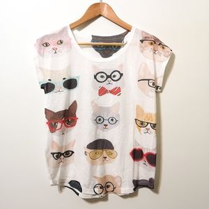 Cool Cats in Glasses T-shirt